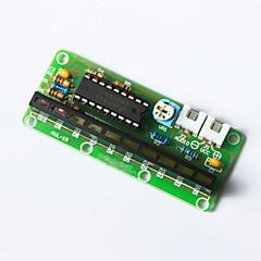 LM3915 10 au niveau du module indicateur du conseil d'administration - vert + multicolore