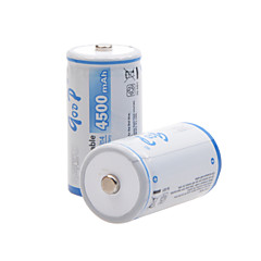 GODP 4500mAh 1.2V C-type Rechargeable NiMH Battery (2pcs)