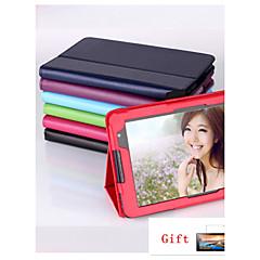 Voor Lenovo hoesje met standaard / Flip hoesje Volledige behuizing hoesje Effen kleur Hard PU-leer Lenovo