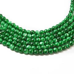 3Str (apx.140pcs / str) cuentas de cristal de la moda beadia 6mm ronda de color verde moteado bricolaje espaciadores piedras sueltas
