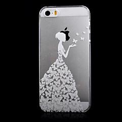 transparente padrão openwork impressão em relevo florista caso de telefone PC material fino para iPhone 5 / 5s