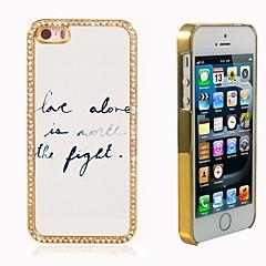 seul l'amour hybride design de luxe bling paillettes brillent avec étui cristal strass pour iPhone 5 / 5s