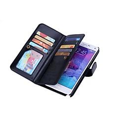 Varten Samsung Galaxy Note Lomapkko / Korttikotelo / Magneetti Etui Kokonaan peittävä Etui Yksivärinen Kova Tekonahka varten SamsungNote