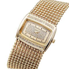 la mode strass brass band de la chaîne de cristal de luxe des femmes de dames montre-bracelet à quartz Bracelet