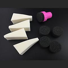 9pcs manicure spugna attrezzi di arte del chiodo professionali per gradiente di colore arte del chiodo&mulit-colore delle unghie