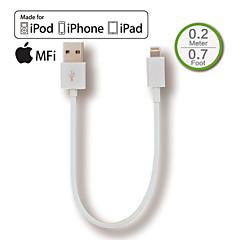 IFM fulmine al cavo usb del caricatore di sincronizzazione breve per iphone5 6, aria iPad, iPad mini, speciale per la banca di potere,