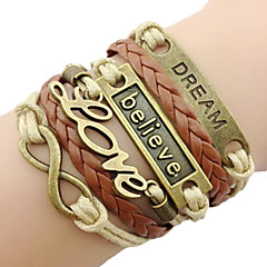 leather Charm Bracelets Classic Bronze LOVE Leather Wrap Bracelet(1 Pc) inspirational bracelets Jewelry Christmas Gifts