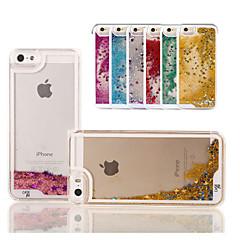 3 d écoulement du liquide de couleur modèle arrière de cas de couverture pour iPhone 5 / 5s (couleurs assorties)
