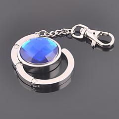 unisex legering afslappet mode runde krystal nøgleringe