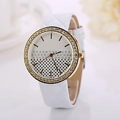 correa de cuero de moda de relojes de pulsera del remache cadena viste el reloj relojes de señora de la muchacha de regalo ocasional