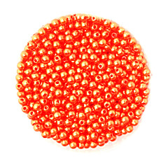 Beadia 58g(Approx 2000Pcs)  4mm Round ABS Pearl Beads Orange Color Plastic Beads