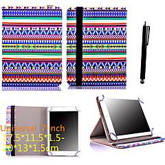 karzea® 7inch caso universal, bolso de cuero de la PU con el soporte y el lápiz para 7 'google / asus / tablet amazon