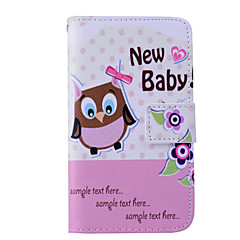 Magic Spider®Cartoon Owl Wallet Design PU Full Body Case with Screen Protector for Samsung Galaxy G355H