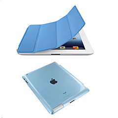 for ipad 234 Smart Cover sak foran skinntrekk + matt bakside