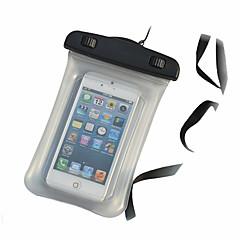Custodia impermeabile 15m sacchetto del telefono subacqueo trasparente con la cordicella per il iphone 4 / 4s / 5 / 5s / 5c e altri