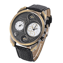 L.WEST Fashion Double Movement Belt Quartz Watch Wrist Watch Cool Watch Unique Watch
