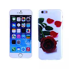 rose rouge motif TPU et cas de MI souple pour iPhone 5 / 5s