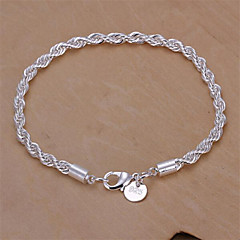 Sterling Silver Bracelet Chain & Link Bracelets Wedding/Party/Daily/Casual 1pc Jewelry