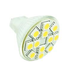 3W GU4(MR11) Lâmpadas de Foco de LED MR11 12 SMD 5050 160-180 lm Branco Quente / Branco Frio / Branco Natural Regulável / DecorativaAC 24