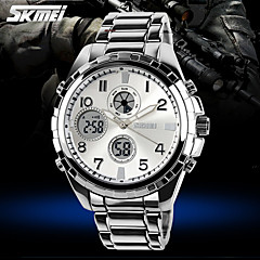 SKMEI® Men's Military Steel Watch Japanese Quartz Analog-Digital Calendar/Chronograph/Water Resistant/Alarm