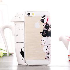 padrão familiar gato TPU soft case para iPhone 5 / 5s