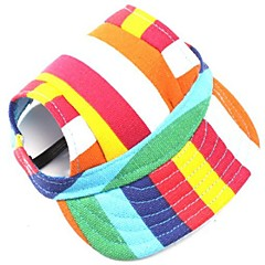 Dog Bandanas & Hats Red Orange Green Blue Black Pink Dog Clothes Summer Spring/Fall Stripe Fashion Holiday