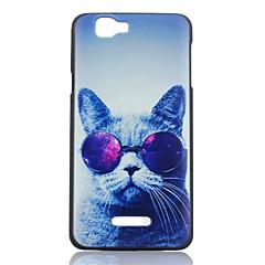 okulary cat wzór przypadku pc telefon dla Wiko tęczy