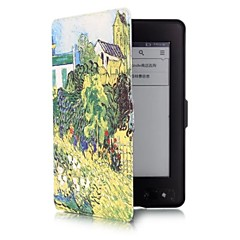 6 Inch Garden Pattern PU Leather Case with Magnetic Buckle for Amazon Kindle Paperwhite