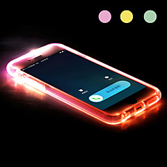 New TPU LED Reminder Flash Transparent Back Case Cover for iPhone 6/6S (Assorted color)