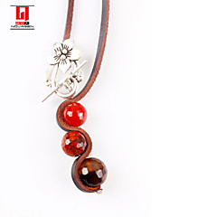 Natural Agate Pendant Sweater Chain