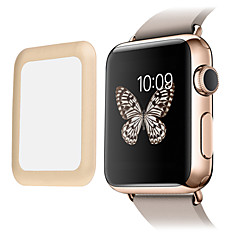 koppeling droom premie 0.2mm echte gehard glas met volledige dekking metalen rand screen protector voor apple horloge (42mm)