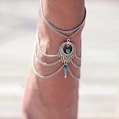 Bohemia Turquoise Drop Anklets Foot Ornaments 1Pc