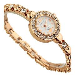 Women's Diamante Round Dial Alloy Band Quartz Analog Wrist  Bracelet  Watch Cool Watches Unique Watches