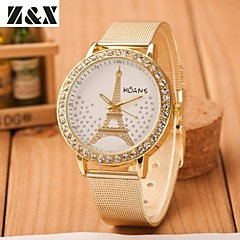Women's Fashion Tower Set Auger Quartz Steel Belt Wrist Watch