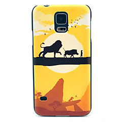 Lion  Pattern  PC Phone Case  for Samsung Galaxy S5 I9600