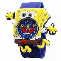 spongebob desenhos animados padrão de silicone gel adorável quartzo relógio aplauso das crianças
