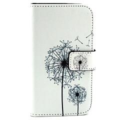 Dandelion Pattern PU Leather Material Card Full Body Case for Samsung Galaxy J1 / Galaxy Grand 2 G7106