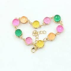 XXI Women's The Newest Fashion Casual Gold Plated/Rhinestone Chain Bracelet 1pc