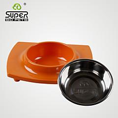 supersdpets® acciaio inossidabile e ciotola melamina per cane / gatto (24.1 * 20.1 * 5, colori assortiti)