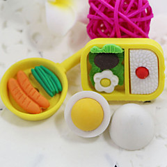 Cute Cartoon Snack Japenese Food Assemble Rubber Eraser (Random Color)