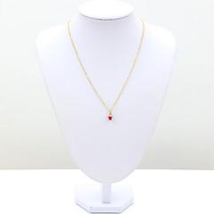 Dames Hangertjes ketting Kristal Strass imitatie Diamond 18K goud Modieus Rood Roze Sieraden