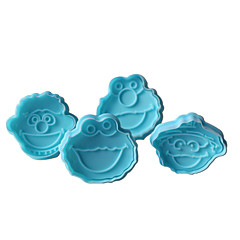 4PCS Clown Pattern Cake and Cookie Cutter Mold