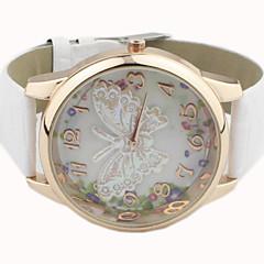 Mulheres Relógio Elegante Quartz PU Banda Borboleta Preta / Branco / Azul / Vermelho / Laranja / Verde / Rosa / Roxa / Amarelo / Rose