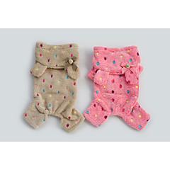 Marrón/Rosa Polar Fleece - Pantalones/Saco y Capucha - Perros -