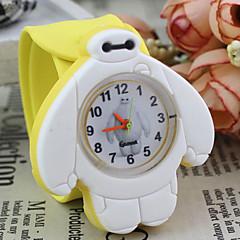 patrón Baymax silicona de dibujos animados lindo reloj de la palmada preciosa de cuarzo digitales de los niños