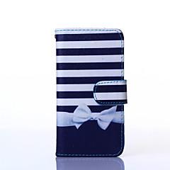 For Samsung Galaxy etui Kortholder Med stativ Flip Mønster Magnetisk Etui Heldækkende Etui Linjeret / bølget Kunstlæder for SamsungA7 A5