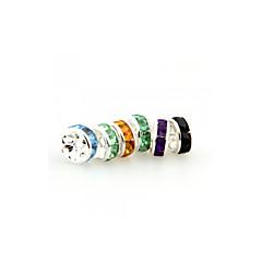 30PCS Round Multi-color Rhinestone Rondelle Bead Spacer