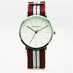 Men's Analog Alloy Case Round Dial Nylon Band Quartz Watch Men Fashion Watch Gift Watch(Assorted Colors)