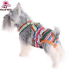 Koty / Psy Spodnie Różowy Ubrania dla psów Lato פסים Ślub / Cosplay