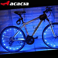 bicicleta luz roda, leds acácia ciclismo moto impermeável pneu sinal falou brighting lâmpada fio flash de luz